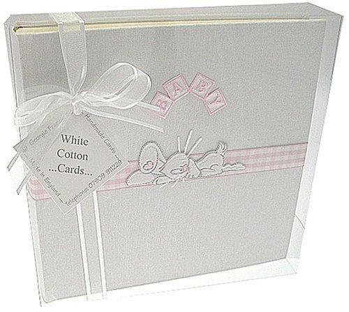 Bunny Design Medium Photo Album (Pink) by WHITE COTTON CARDS by White Cotton Cards