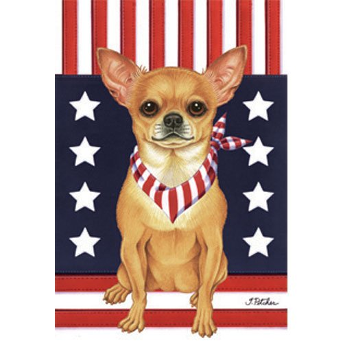 Best of Breed Chihuahua Patriotic Breed Garden Flag