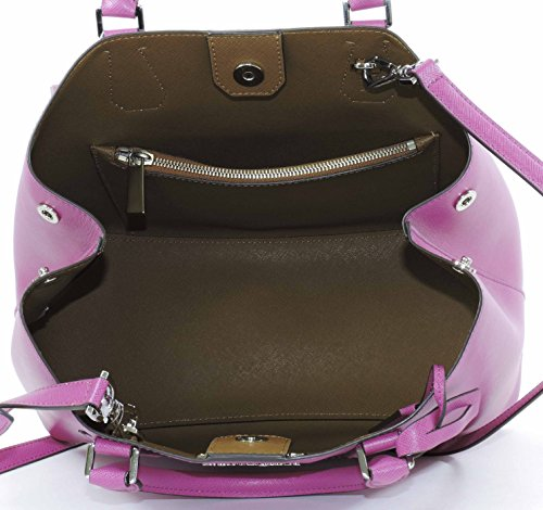 Michael Kors Fuschia Luggage Large Greenwich Leather Tote Grab Bag Purse by Michael Kors (Image #4)