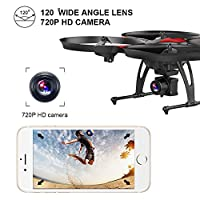 DROCON U818PLUS WIFI FPV Drone With Wide-Angle HD 2MP Camera,15 Min Flight Time, Altitude Hold, Headless Mode, One-Button Take-off And Landing, TF Card 4GB Included, Quadcopter Designed For Beginners by UDI RC