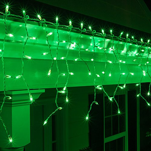 Emerald Outdoor Icicle Lights