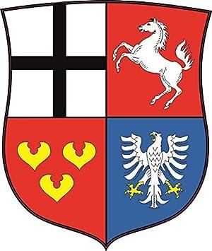 U24 Aufkleber Herzogtum Westfalen Wappen Autoaufkleber Sticker Konturschnitt Auto
