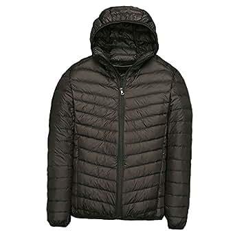 Men's Lightweight Hooded Puffer Down Jacket Classic Winter