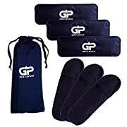 GentlePack - Perineal Ice & Heat Packs c/w Reusable Sleeves for Postpartum & Hemorrhoid Pain Relief - Perfect for Use with Kids, Children, Babies and Toddlers or Any After Pregnancy Discomfort (Black)