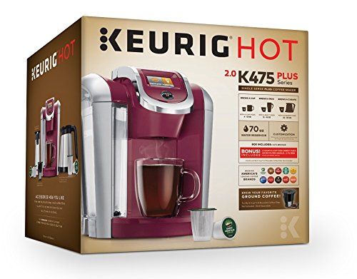 Keurig K475 Single Serve Programmable K- Cup Pod Coffee Maker with 12 oz brew size and temperature control, Vintage Red by Keurig (Image #5)