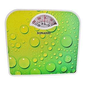 SONASHI Manual Bathroom Scale, Green-SSC-2212