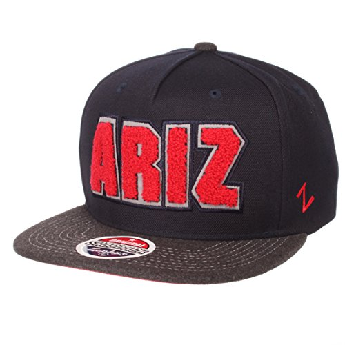 Zephyr NCAA Arizona Wildcats Men's Jock Snapback Hat, Adjustable, Gray/Team Color -