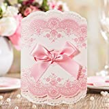 Wishmade Wedding Invitations Cards, Pink, 100 Pieces, CW6066, Customized Printing