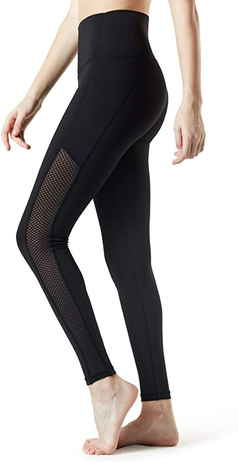 Womens High Waist Yoga Pants Tummy Control Workout Running Yoga Leggings