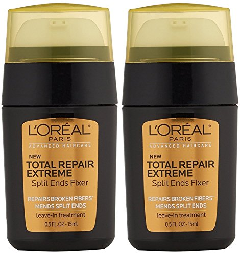(L'Oreal Advanced Haircare Total Repair Extreme Split Ends Fixer Leave-In Treatment 0.50 oz (Pack of 2))