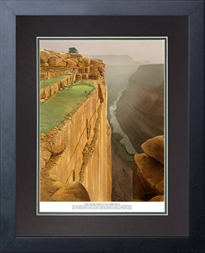 "Legends Never Die ""Infamous 18 Golf Holes"" Double Matted Official Lithograph Print, Framed 11 x 14"", No. 4 Grand Canyon Country Club"