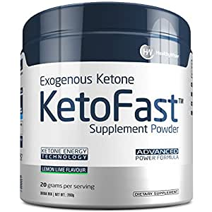 KETO FAST™ - Exogenous Ketone Supplement - Beta-Hydroxybutyrate (BHB) Salts For Fat Burning and Weight Loss. Support For Ketosis, Energy and Focus. Delicious Formula For Metabolism, Lemon Lime Flavor