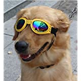 ZeroShop(TM) Water-Proof Shiny Black Dog Sunglasses Eye Wear Protection Goggles with Clorful Lens for Large Dogs