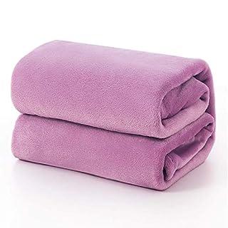 Bedsure Flannel Fleece Blanket King Size (108 x90 inch),Lilac Light Purple Lavender Violet Lightweight Blanket for Sofa, Couch, Bed, Camping, Travel - Super Soft Cozy Microfiber Blanket