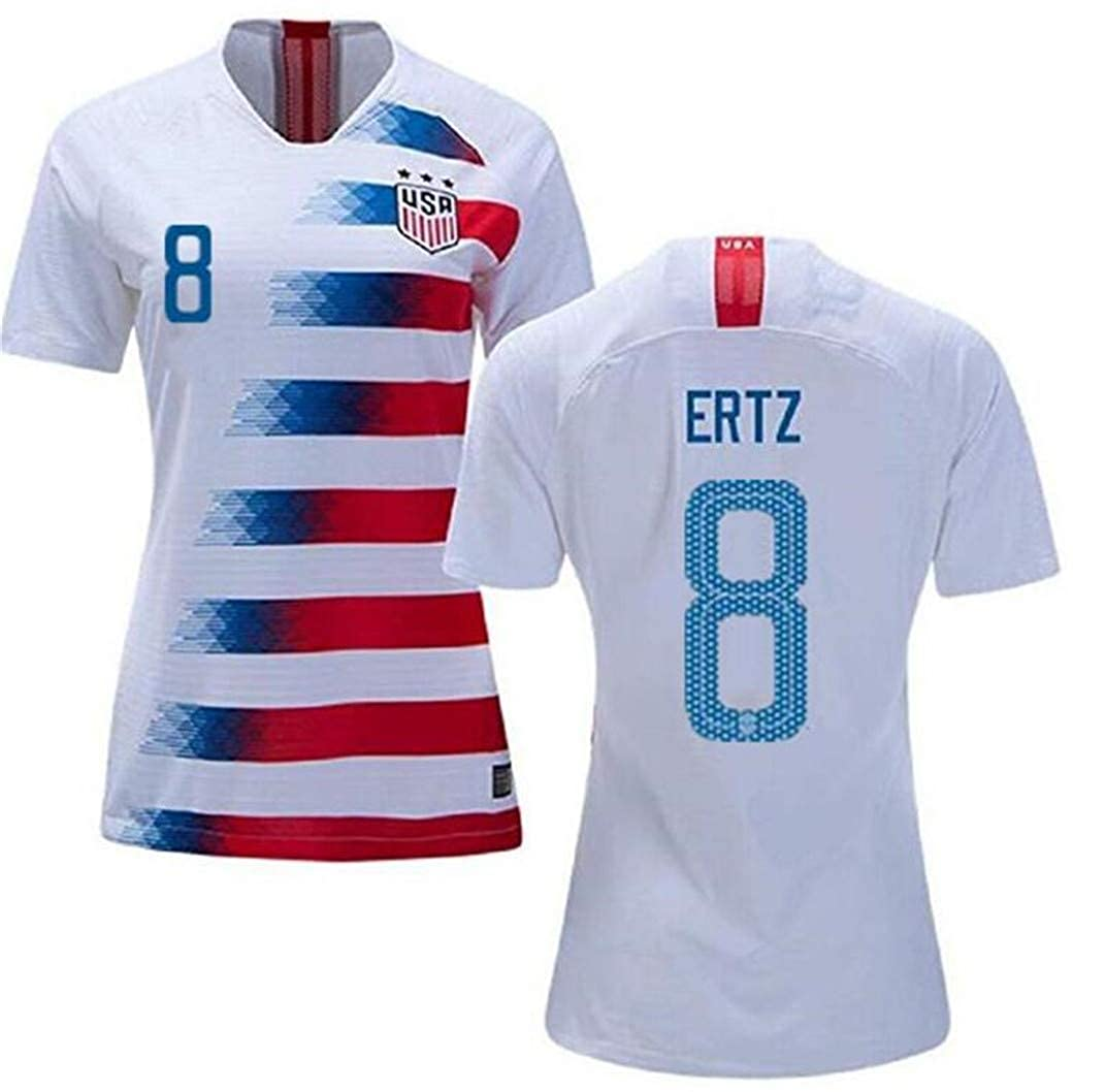 size 40 0edb4 5bb11 LISIMKE Soccer Team USA National Home Julie Ertz#8 Womens ...