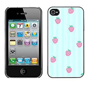 SKCASE Center / Funda Carcasa - Líneas Strawberry Pattern;;;;;;;; - iPhone 4 / 4S