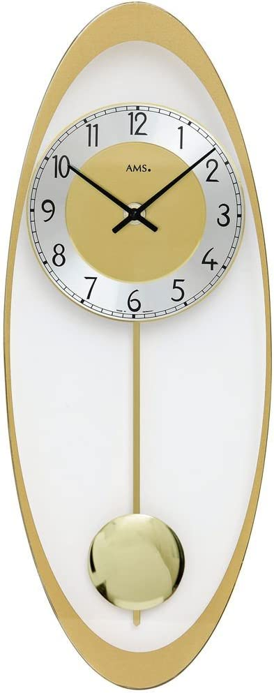 Ams Design Unusual Wall Clocks Aluminium Glass Pendulum Wall Clock Quartz Clock Amazon Co Uk Kitchen Home