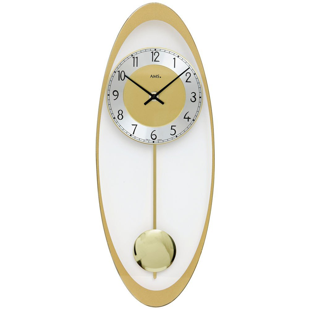 Ams Design Unusual Wall Clocks Aluminium Glass Pendulum Wall Clock Quartz Clock Buy Online In Guernsey At Guernsey Desertcart Com Productid 78615700
