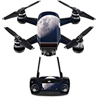 Skin for DJI Spark Mini Drone Combo - Moon| MightySkins Protective, Durable, and Unique Vinyl Decal wrap cover | Easy To Apply, Remove, and Change Styles | Made in the USA