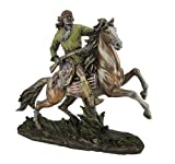 GERONIMO ON HORSEBACK Real Bronze Powder Cast Native American Apache Indian Warrior Sculpture Statue