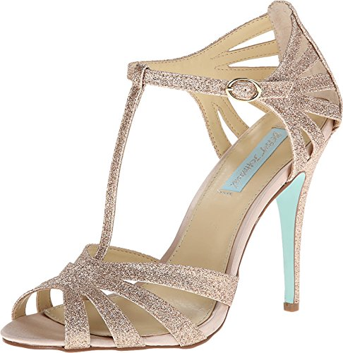 Blue by Betsey Johnson Women's SB-Tee Dress Pump,Champagne,8 M US Sb-tee