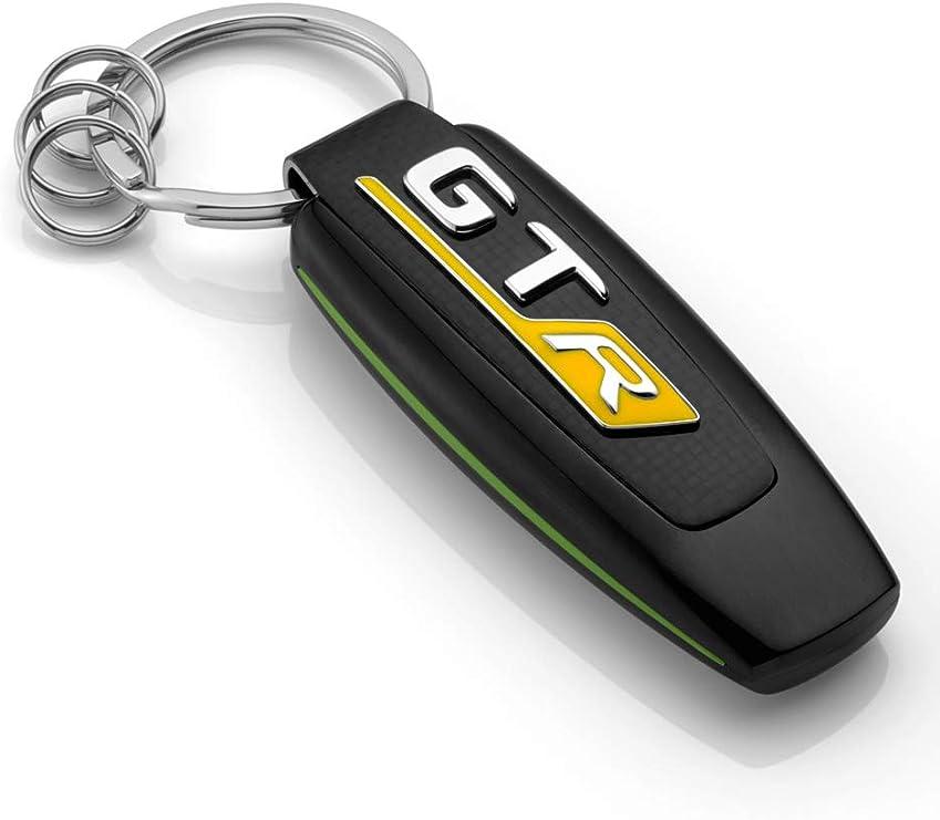 Mercedes Benz Collection Amg Gt R Schlüsselanhänger Schlüsselanhänger Mit Amg Gt R Logo Schwarz Silber Grün Accessoires Auto