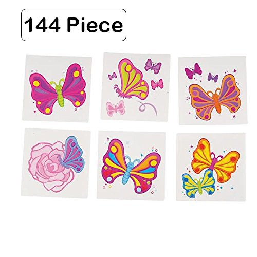 Hot Air Balloon Costume Instructions (144 Piece Butterfly Tattoos 2 Inch Colorful Temporary Waterproof Transfer Tattoos, For Kids, Chic, Hippie, Party Favors, Prize - Comprehensive instructions included. – By Kidsco)