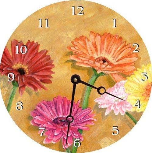 "Lexington Studio ""Gerber Daisies Round Clock, 10"""