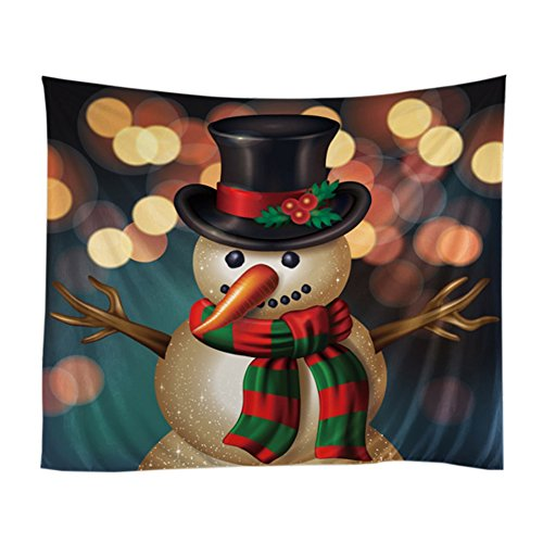 Messagee Mr. snowman Christmas theme Tapestry Wall Hanging Indian Wall Art (Tapestry Snowman Wall)