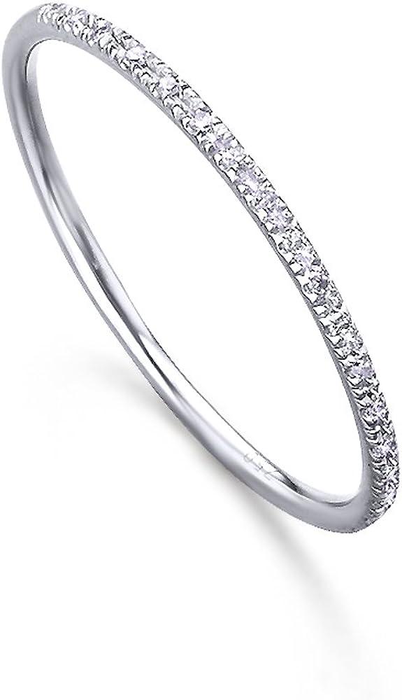 Media Alianza, fabricada en Oro Blanco 18K y pequeños diamantes (H-SI), de LECARRÉ JOYAS.
