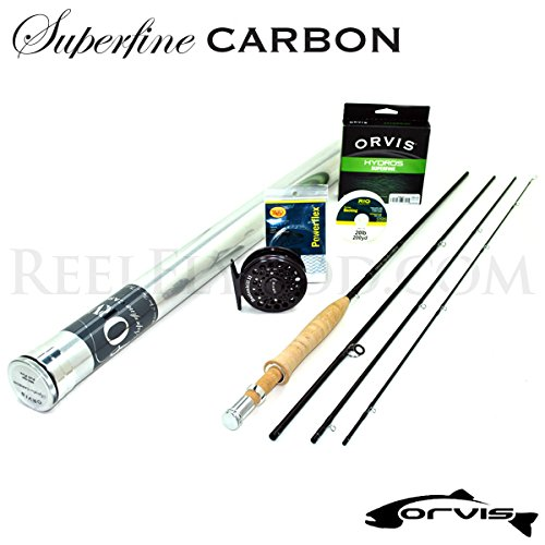 Orvis Superfine Carbon 1wt 7'6'' Fly Rod Outfit (7'6'', 1wt , 4pc)