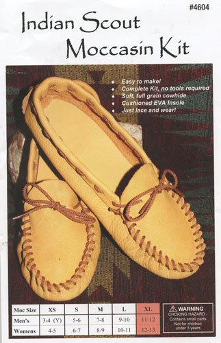 - Realeather Crafts Realeather Moccasin Kit, Size 12/13, Golden Brown