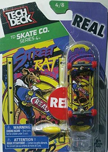 2016 Tech Deck TD Skate Co. Series 4 [4/8] - REAL Street Rat Finger Skateboard with Display (Teck Deck)