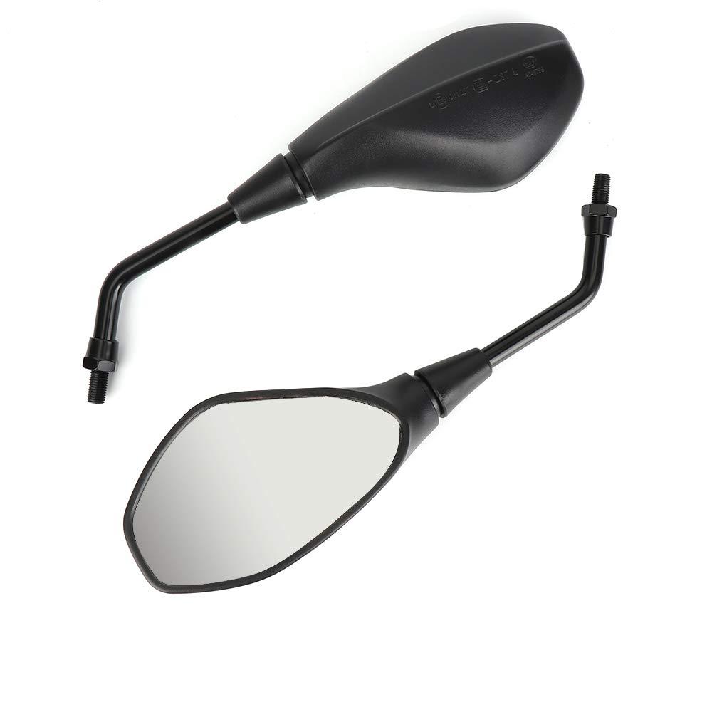 color negro universal 10 mm 8 mm Espejo retrovisor para motocicleta con certificado E