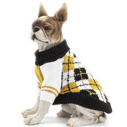 HAPEE Pet Clothes the Diamond Plaid Cat Dog Sweater , Dog Accessories, Dog Apparel?Pet Sweatshirt