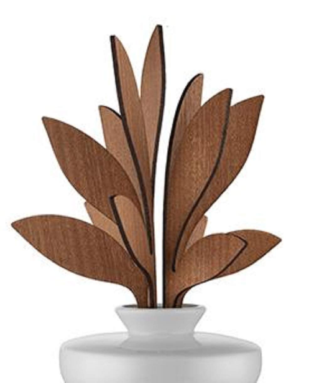 Alessi The Five Seasons Ahhh Replacement Diffuser Leaves, Mahogany Wood, by Marcel Wanders by Alessi