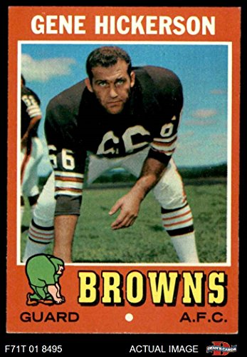 1971 Topps # 36 Gene Hickerson Cleveland Browns-FB (Football Card) Dean's Cards 7 - NM (1971 Topps Football Card)