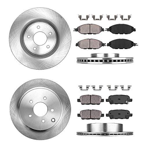 Nissan Pathfinder Brake (Callahan CRK02100 FRONT + REAR Brake Rotors + Ceramic Pads + Hardware [ Infiniti JX35 QX60 Nissan Murano Pathfinder ])