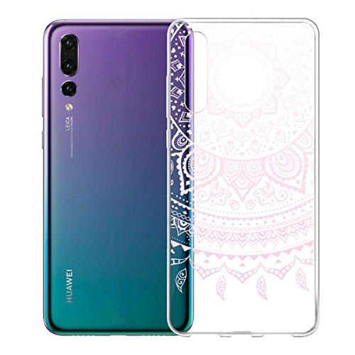 Funda para Huawei P20 Pro , IJIA Transparente Gato Y Libros TPU Silicona Suave Cover Tapa Caso Parachoques Carcasa Cubierta para Huawei P20 Pro (6.1) WM86