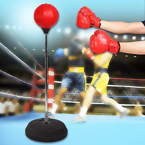 Punching Stand Fitness Punching Ball f/ür Erwachsene Erwachsene Erwachsene H/öhe verstellbar 125-140 cm GOTOP Punching Ball Boxsack Boxsack mit Boxhandschuhen