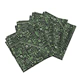 Robot Nerd Geek Circuit Computer Science Engineer Linen Cotton Dinner Napkins Short Circuits (Black and by Robyriker Set of 4 Dinner Napkins