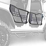 Opar Rock Front & Rear Tubular Door Guards for 2007-2018 Jeep Wrangler JK Unlimited (4-Door)