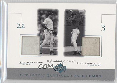 Roger Clemens; Alex Rodriguez (Baseball Card) 2001 Upper Deck Reserve - Game-Used Base Combos #B-CR