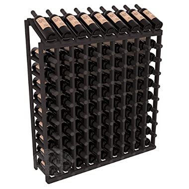 Wine Racks America Ponderosa Pine 9 Column 10 Row Display Top Kit. Black Stain