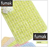 Bath Mat - 60x90cm Anti Slip Bathroom Mat with Sucker Rubber Bath Shower Safe Mat Floor Mat Bathtub Mat Foot Massage Pure Color Carpet Rug (Green)