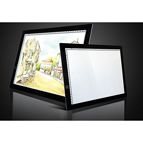 Eb A4 Tracing Light Box LED Ultra-Thin Light Pad Portable Artist Drawing Tattoo Board Pad Table Stencil Display by Baby Elephant (Image #1)