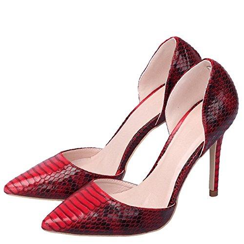Donne Stiletti Punta Chiusa Iridescenza Sexy Fereshte Rosso Laser Olo Coccodrillo Della Pompe wdfTTq