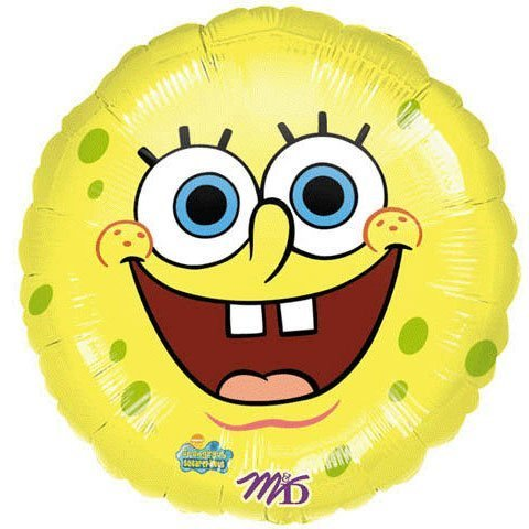 - Yellow Spongebob Squarepants Smiley Face 18 Mylar Foil Balloon Party
