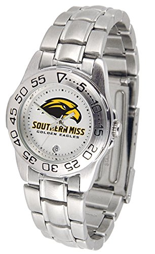 NCAA Southern Miss Golden Eagles Ladies Gameday Sport Watch with Stainless Steel Band