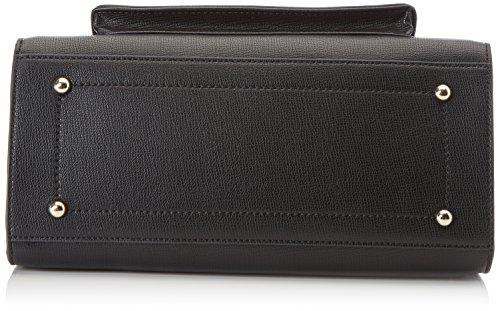 Trussardi Jeans 75b00033-1y090218, Borsa a Mano Donna, 10x18x21 cm (W x H x L) Nero